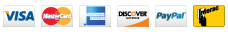 Visa Mastercard Discover PayPal Interac